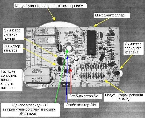 схему стиральной машины с